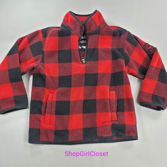 💥Just In💥Oshlosh Buffalo Plaid Sweater-Sz 4 Boys